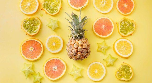 パイナップル柄の写真